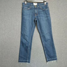 Current/Elliott The Cropped Straight Womens Jeans Size 24 Released Hems - $54.99