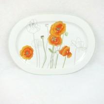 """Block Spal Poppy Oval Serving Platter 15.5"""" Watercolors Mary Lou Goertze... - $69.99"""