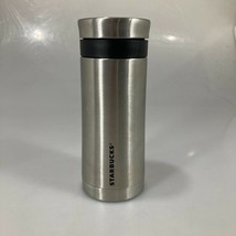 Starbucks Portable French Press Coffee Stainless Steel Silver Tumbler 10... - $43.61