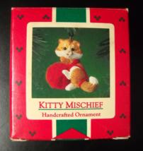 Hallmark Keepsake Christmas Ornament 1985 Kitty Mischief Red Yarn Ball B... - $8.99