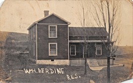 SPILLER MEIGS COUNTY OH~W H BERDINE RESIDENCE~REAL PHOTO POSTCARD 1913 D... - $5.81