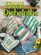Floral Dishcloths ~ Crochet NEW OOP Rose Dahlia Pansy Daisy Forget-Me-No... - $7.87