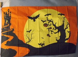 HALLOWEEN FLAG 3X5' PUMPKINS SPOOKY 3 X 5 NEW HAUNTED HOUSE BLACK CAT BATS - £7.66 GBP