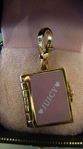 NWT NIB Juicy Couture Pink Look Book Bracelet Charm  - Pages Open & Lock - $98.01