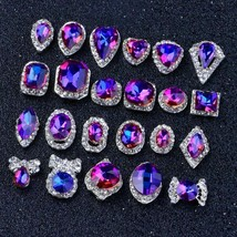 10Pcs 3D Charms Rainbow Crystal Diamonds Nail Art Rhinestones Glitter De... - $12.87