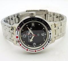 Vostok Amphibian Military Russian Diver Watch Scuba Dude Black 2416 / 420634 - $72.98