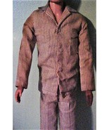 Vintage Ken Doll Striped Sleeper Pajamas Mattel Jacket Pants Shoes (No d... - $19.95