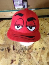 Red Mnm M And M Guy Baseball Ball Hat Cap Flexfit (hb1) - $13.56