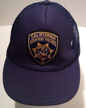 NISSIN MESH SNAP BACK CAP HAT CALIFORNIA HIGHWAY PATROL PATCH EMBROIDER ... - $42.75