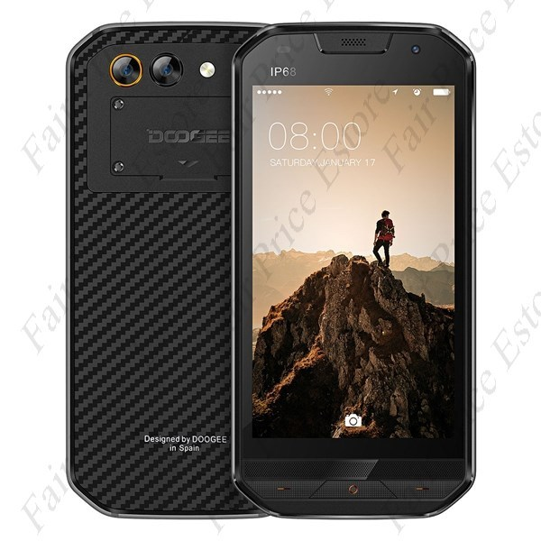 "Primary image for DOOGEE S30 Rugged IP68 5.0"" HD MTK6737 Quad-core Android 7.0 4G Phone (Black)"