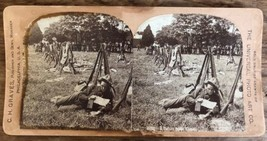 """Antique Stereoview Universal Photo """"A Letter From Home"""" Military Solider... - $9.89"""