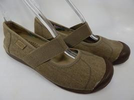 Keen Sienna Mary Jane Sz 8.5 M (B) EU 39 Women's Canvas Shoe Beige Brown 1014217