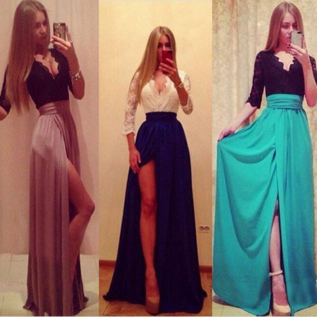 Daisy dress for less maxi dress sweet high slit lace top maxi dress 1371913486367