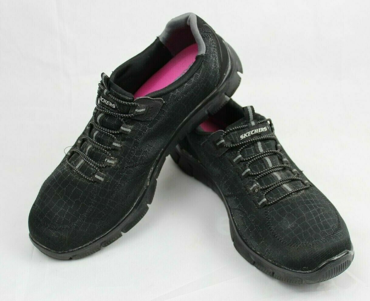 Skechers women's shoes relaxed fit air cooled memory foam black size US 9.5 image 3