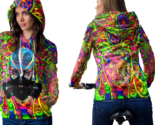 Psychedelic geisha face trippy tongue dmt hoodie women thumb155 crop