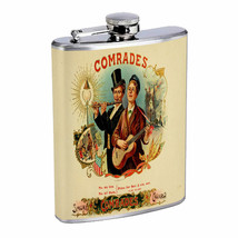 Vintage Cigar Box Poster D5 Flask 8oz Stainless Steel Hip Drinking Whiskey - $13.81