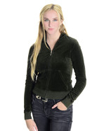 M Authentic Juicy Couture Hunter/Army Green Vel... - $39.59