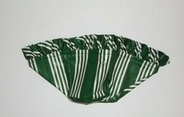 Longaberger Tea Basket Liner Hunter Green Stripe New 2700616 - $15.83