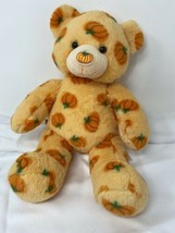 Build A Bear Plush Limited Edition Pumpkin Bear 2012 Retired Orange Autu... - $19.79