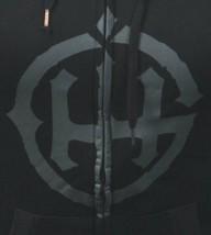 In Gods Hands Logo Womens Rubik Black Grey Fleece Zip Up Hoodie NWT image 2