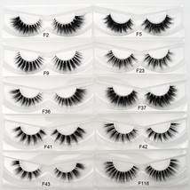 Visofree® Handmade Natural Mink False Eyelashes Invisible Band Full Stri... - $6.34