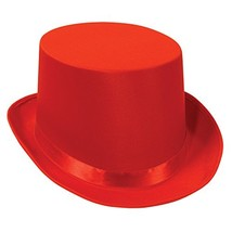 Satin Sleek Top Hat red Party Accessory  1 count - €11,16 EUR