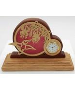 Hand Crafted Wooded Art Hummingbird in Flight Clock  - $39.00