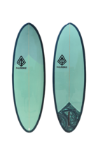 "Paragon Retro Egg 6'6"" SeaWeed Surfboard - $400.00"