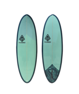 "Paragon Retro Egg 6'6"" SeaWeed Surfboard - $400.00"