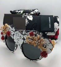 Floral DOLCE&GABBANA Sunglasses DG 4275-H 1574/87 Black-White w/Pears+Red Roses