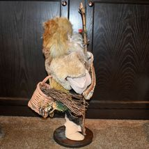 """Handcrafted Woodland Eskimo Santa Claus Father Christmas Signed 28"""" Cloth Doll image 4"""
