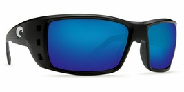 Costa Permit Sunglasses - Polarized - Matte Black Frame w/ Blue Mirror 5... - $256.41