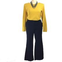 Clothing LOT Ann Taylor LOFT Sailor Pant Talbots Mustard Yellow Top Outf... - $29.95