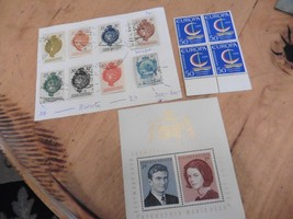 F65 LOT Liechtenstein stamps royal wedding , Europa 50 & imperforate col... - $11.63