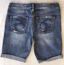 New SILVER Jeans Sale Buckle Low Rise Frankie Embellished Jean Denim Shorts 26 - $19.97