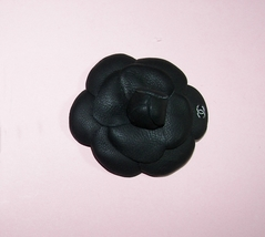 Chanel Brooch Style Camellia Brooch Pin Genuine Leather Various colors - $22.00+