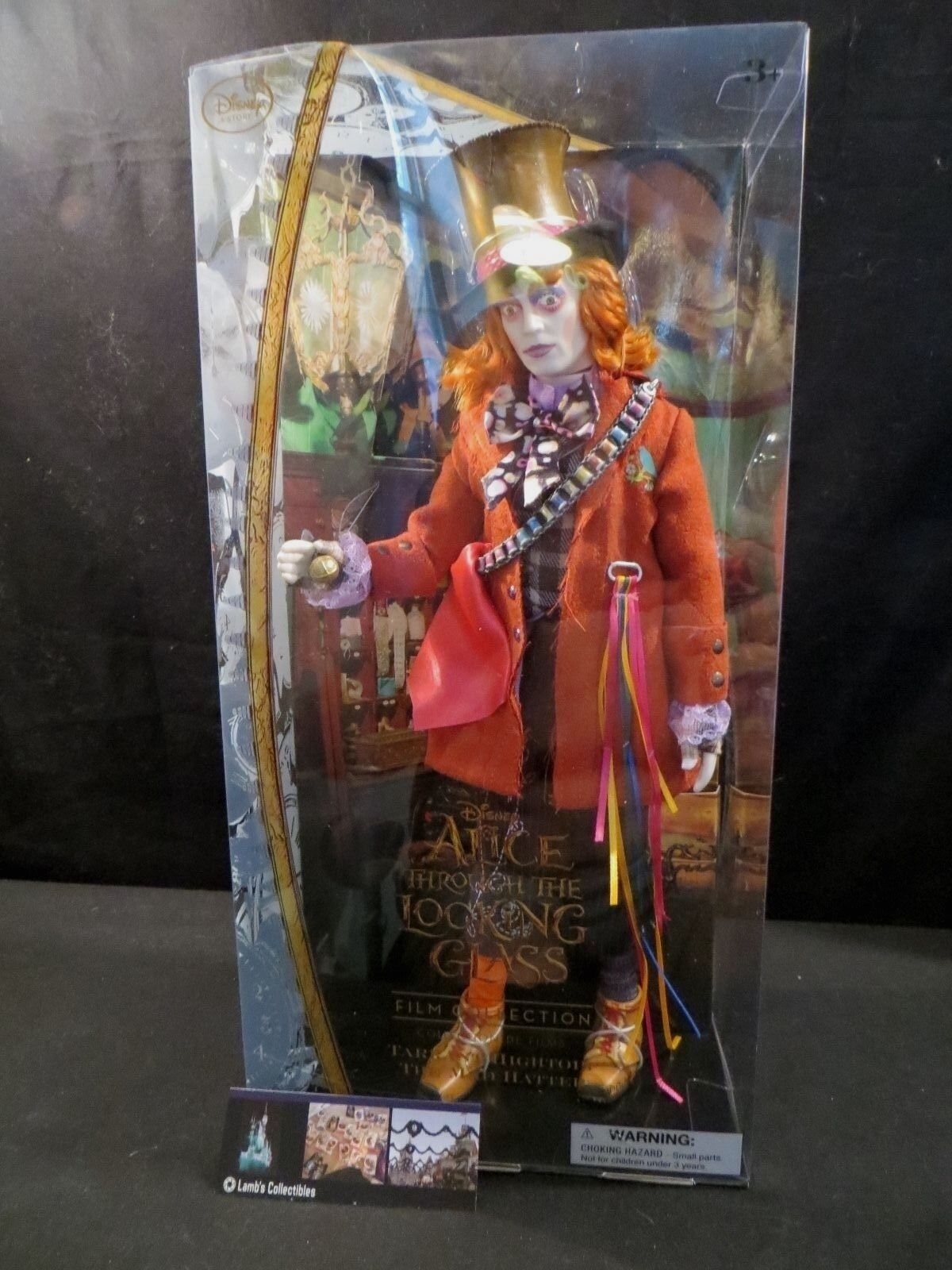 Primary image for Disney Store Authentic Alice Through the Looking Glass The Mad Hatter doll