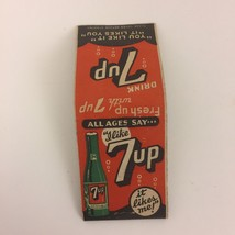 Vintage 7 Up Soda Matches Matchbook You Like It, It Likes You - $9.99