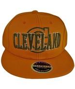 Cleveland C Wave Style Men's Snapback Baseball Caps (Orange) - $11.35