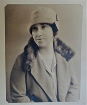 Vintage Photo Woman Flapper Style Hat  ~ Moser Studio Rochester NY 1920s - $6.50