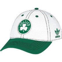 Adidas Women's Basic Slouch White Adjustable Hat Cap BOSTON CELTICS - $25.66 CAD
