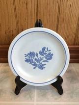 Pfaltzgraff Yorktowne Dessert Plates Blue Floral Stoneware Dinnerware - $13.09