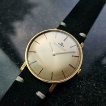 JAEGER LECOULTRE Vintage Men's 18K Gold Hand-Wind Dress Watch, c.1960s L... - $3,822.00