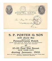 UX18 NY Madison Sq Sta 1904 to Mattawamkeag ME SP Porter Furniture Adver... - $7.99