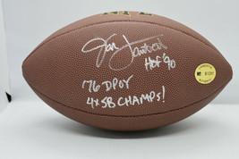 Jack Lambert Signed Nfl Official Team Logo Football Coa - $76.00