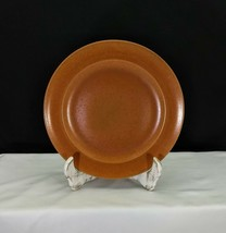 "Vintage Homer Laughlin Wells Art Glazes Burnt Sienna aka Rust 9"" Luncheon Plates - $10.95"