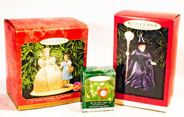Vintage Lot Of 3 Hallmark Keepsake Wizard Of Oz Christmas Ornaments - $29.69