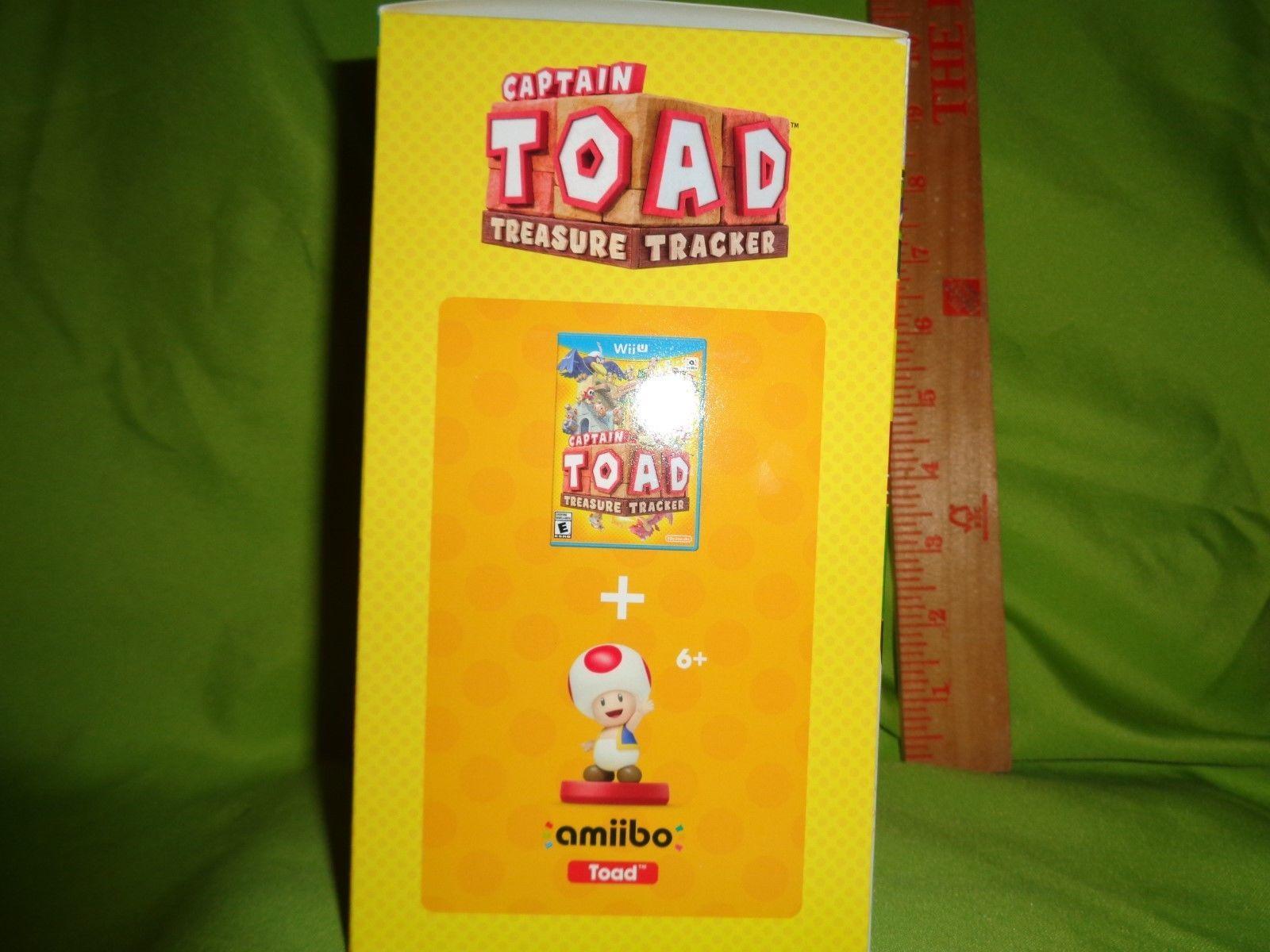 Captain Toad: Treasure Tracker + Toad AMIIBO (Nintendo Wii U, 2016)