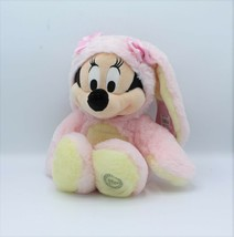 """Disney Store Pink Minnie Mouse Easter Bunny Costume Plush Toy 15"""" Authentic New - $23.99"""