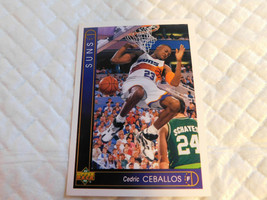 1993 Upper Deck,Phoenix Suns,Basketball-#348(Cedric CEBALLOS)(FORWARD) - $4.95